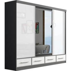 Milena 250 szafa trzydrzwiowa z lustrem