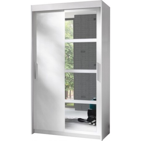 NERO szafa 120 cm z lustrem i półkami