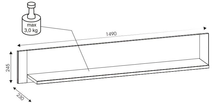 York Y10 półka 149 cm udźwig