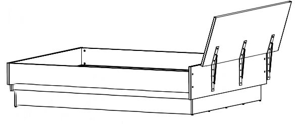 York Y18 łoże 160 cm z pojemnikiem i stelażem techniczne