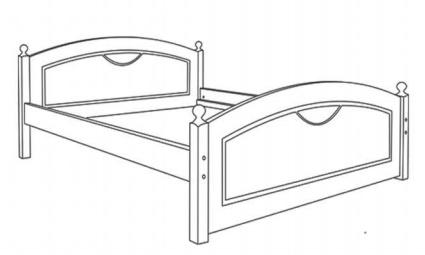 LK 126 łóżko techniczny