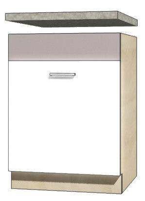 Global glo 11d szafka 60 cm zlewozmywakowa sonoma biały połysk szary