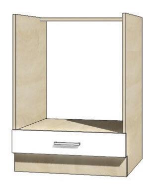 Global glo 17d szafka dolna na piekarnik 60 cm sonoma biały połysk
