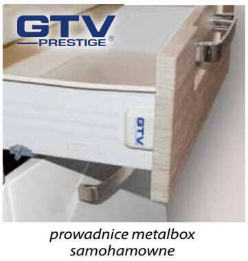Global prowadnice metalbox samohamowne