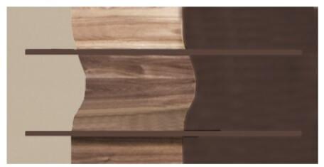 Obsession o9 półka 109 cm sosna laredo orzech saleve połysk cappuccino