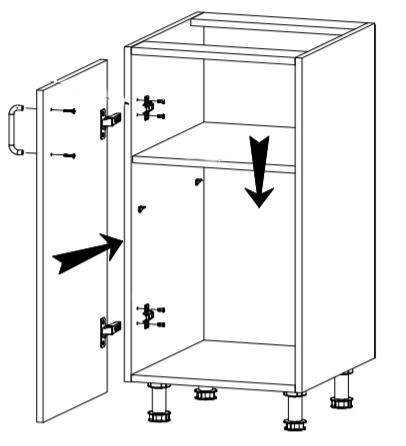 Royal szafka D40 techniczny