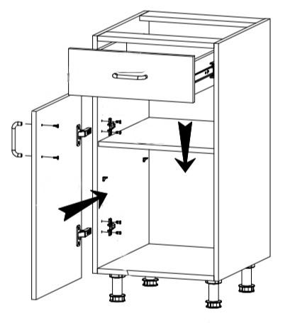 Royal szafka D40S1 techniczny