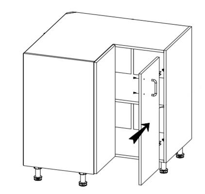 Royal szafka D90 techniczny