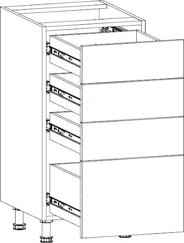 Aspen d40s4 szuflady
