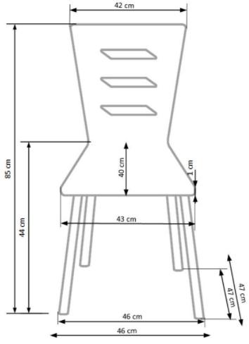 Krzeslo k355 techniczny