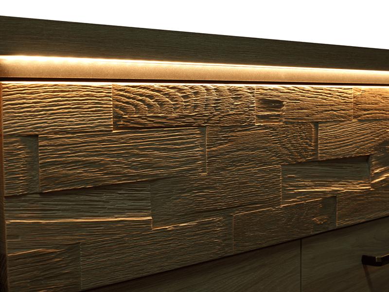 Wstawka z drewna dębowego