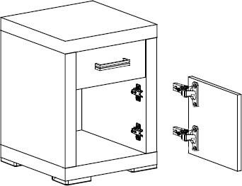 Orlando O21 szafka nocna 45 cm z szufladą techniczny