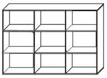 BRUNO 5 komoda 110 cm z półkami techniczny