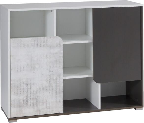 BRUNO 5 komoda 110 cm z półkami