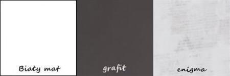 BRUNO 2 regał 80 cm z szufladami biały mat grafit enigma