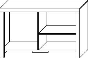 CEZAR 15 szafka RTV wnętrze