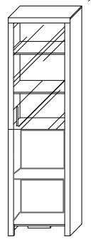 CEZAR 5 witryna wnętrze