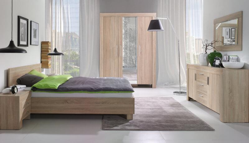 CEZAR 23 łóżko 140x200 z materacem aranżacja