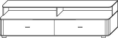 FILL 5 szafka RTV 153 cm z szufladami techniczny