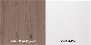 SAMBA 1 szafa 90 cm dwudrzwiowa san marino cream