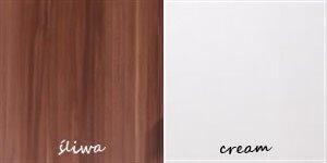 SAMBA 1 szafa 90 cm dwudrzwiowa śliwa cream