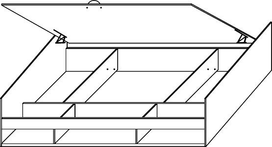 TOMMY 20 łóżko 90 cm młodzieżowe techniczny