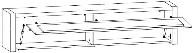 Arosa szafka wisząca SFW1K techniczny