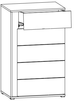 Graphic komoda KOM5SP/C techniczny