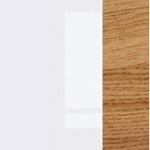 Kioto biały/biały połysk/dąb naturalny