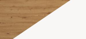 Biurka kolorystyka dąb artisan biały połysk