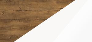 Biurka kolorystyka dąb burgundzki biały połysk