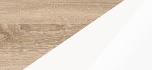 Biurka kolorystyka sonoma jasna biały połysk