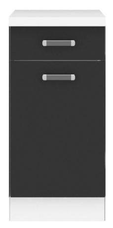 Megi szafka 40 D 1S 1F biały-czarny