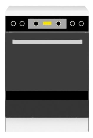 Megi szafka 60DG biały-czarny
