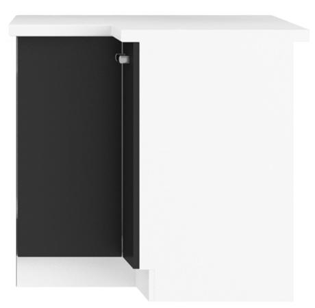 Megi szafka 89x89 DN biały-czarny