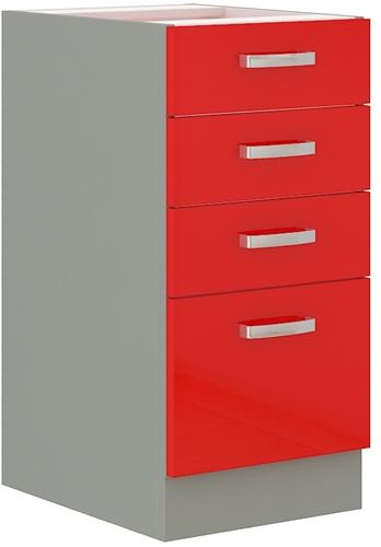 Red szafka 40 D 4S czerwony