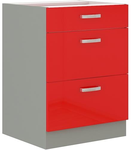 Red szafka 60 D 3S czerwony