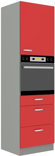 Red szafka 60 DPS-210 3S 1F czerwony