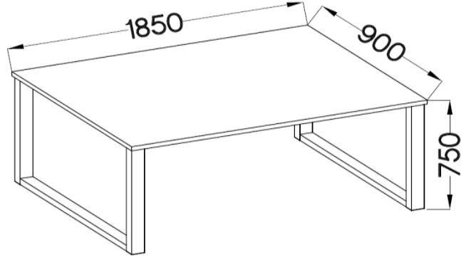 Industrial stół 185x90 techniczny