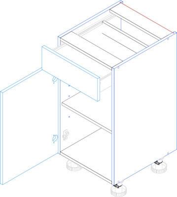 BLANKA D40S/1 szafka kuchenna dolna z szufladą techniczny