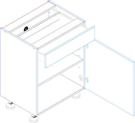 BLANKA D60S/1 szafka kuchenna dolna z szufladą techniczny
