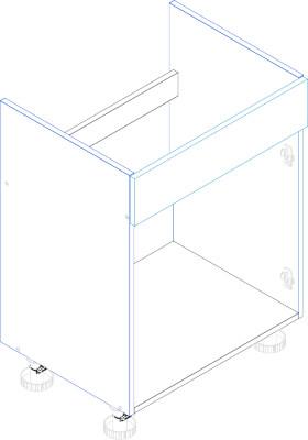 BLANKA D80ZL zaślepka szafka kuchenna pod zlewozmywak techniczny