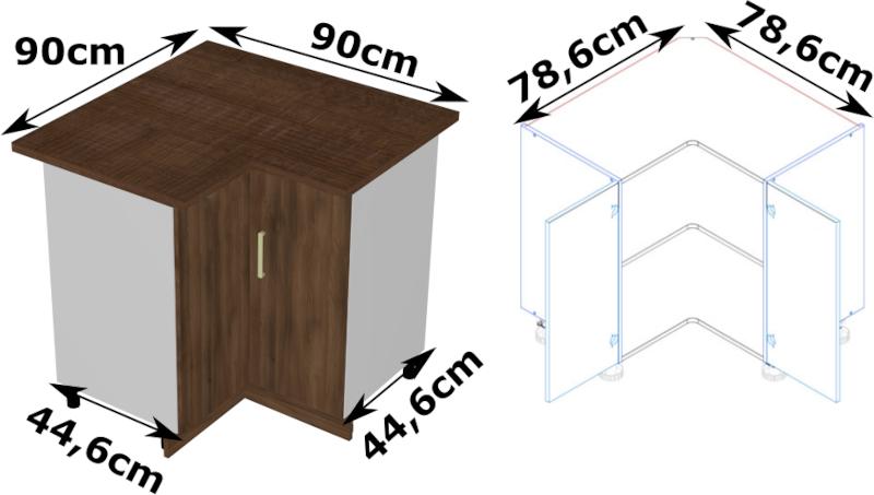 BLANKA DRP szafka kuchenna narożna dolna techniczny