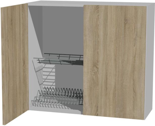 BLANKA W80SU ALU szafka wisząca kuchenna z ociekaczem