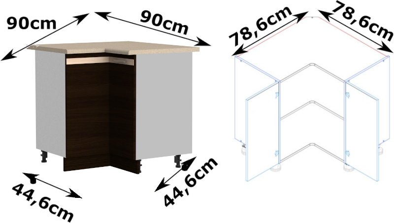 LUNGO&MACCHIATO DRP szafka kuchenna dolna narożna