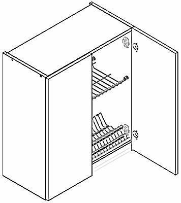 LUNGO&MACCHIATO W80SU szafka kuchenna wisząca z ociekaczem