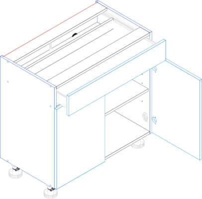 MORENO PICARD D80S/1 szafka dolna z szufladą