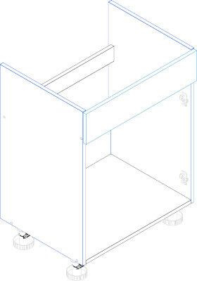 MORENO PICARD D80ZL szafka pod zlewozmywak techniczny