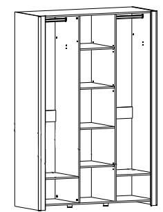 Desjo 06 szafa z lustrem trzydrzwiowa techniczne