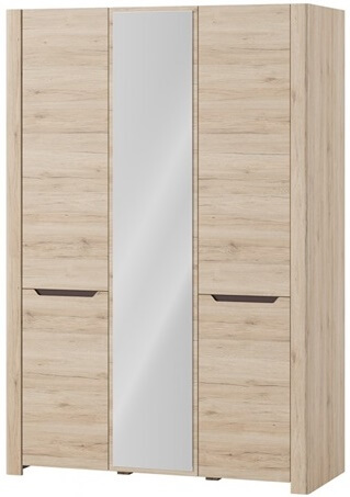 Desjo 06 szafa z lustrem trzydrzwiowa dąb sanremo brąz uni